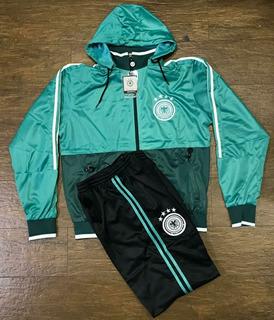 Conjunto Agasalho Alemanha Verde Calça E Blusa De Frio