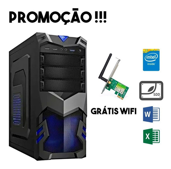 Computador Completo 4gb Intel Ssd 120gb Wi-fi Gamer Barato