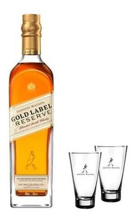 Combo Whisky Jw Gold Reserve 750ml + 2 Copos Highball