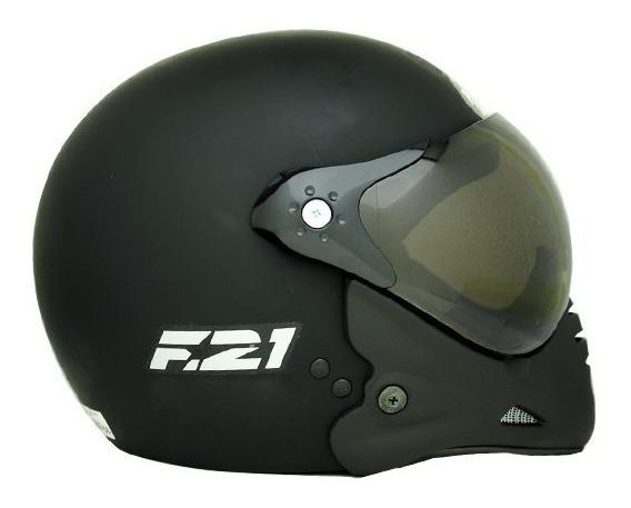 Capacete Moto Peels F-21 C Mascara Preto Fosco