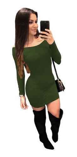 Imagem 1 de 1 de Vestido Feminino Ciganinha Curto Tubinho Ombro A Ombro Lycra