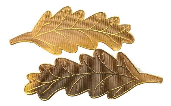 Distintivo Metálico Laureles Grandes Palmas Doradas
