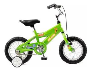 Bicicleta Olmo Cosmo Pets Rodado 12 Niños Cross Con Rueditas