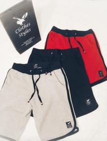 Kit 10 Bermudas Moleton Masculinas Shorts Marca Fit Slim Top
