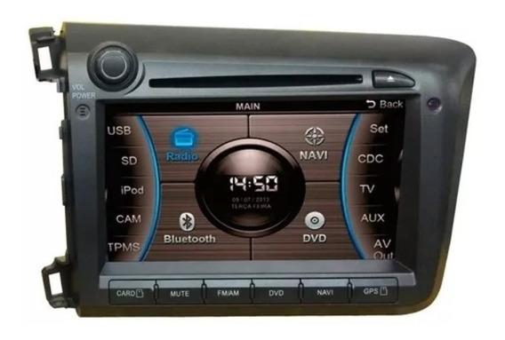 Central Multimídia Caska Honda New Civic Ca277aa