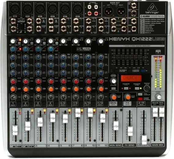 Behringer Xenyx Qx1222usb 16-input Usb Audio Mixer Effects