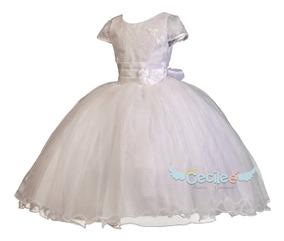 Vestido Primera Comunion Niña Exclusivo Alta Calidad Rosy