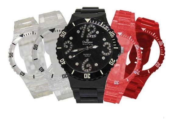 Relógio Feminino Champion Troca Pulseiras Cp30182d / 97795