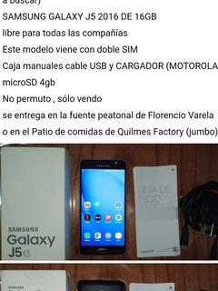 Samsung Galaxy J5 16gb +microsd 4gb Liberado, Dual Sim