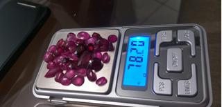 Lote De Rubi Com 78,20 Cts Lapidados 40 Pedras Rubi Naturais
