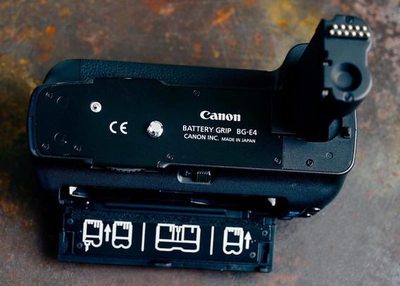 Canon Grip Bg-e4 + Estojo De Pilhas - Como Nova