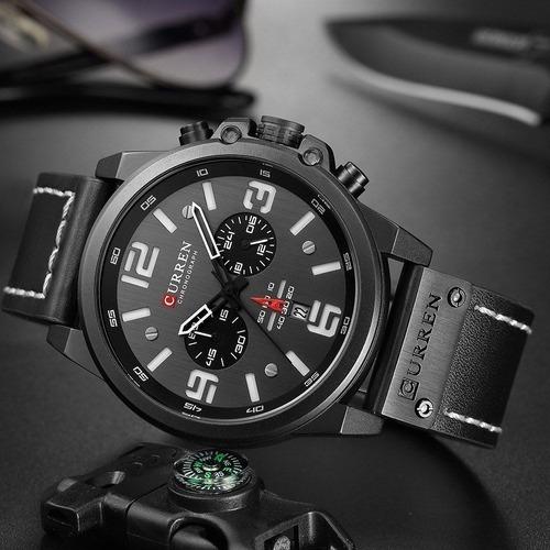 Promoção Relógio Masculino Original Curren Funcional Barato