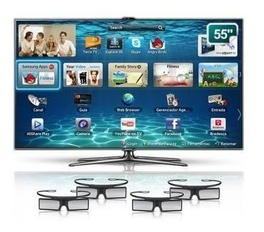 Smart Tv Led 3d Samsung 55 Plg Com Controle De Voz E Mov
