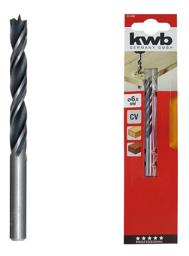 Mecha Espiral Profesional Madera Kwb 49511466 6mm Holzbohrer