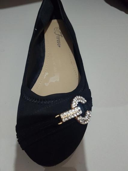 Forever 21 Chatitas Zapatos Gamuza Con Herrajes Talle 37