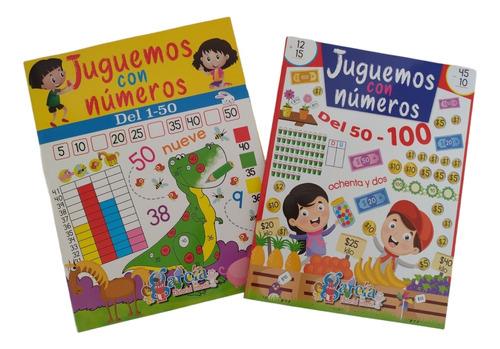 Imagen 1 de 3 de Kit De Libros Juguemos Con Números 1-50 Y 50-100