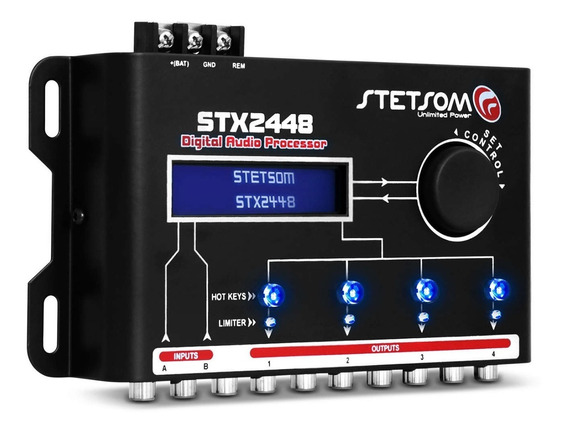 Processador De Áudio Stetsom Stx2448 Crossover 4 Saídas