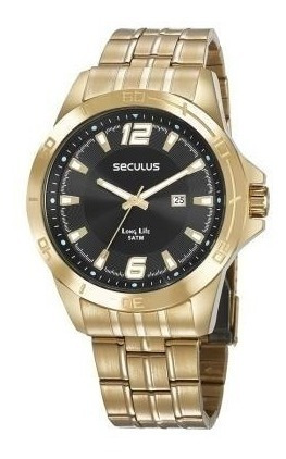 Relógio Seculus Long Life Masculino Dourado 28962gpsvda1