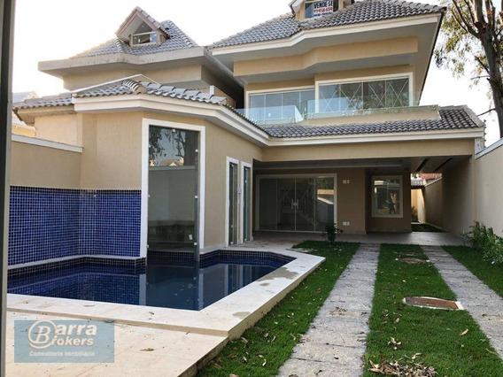 Casa Com 4 Dormitórios À Venda, 400 M² Por R$ 1.550.000 - Recreio Dos Bandeirantes - Rio De Janeiro/rj - Ca0881