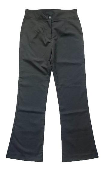 Pantalón Negro Vestir Mujer Oxford Talle 36