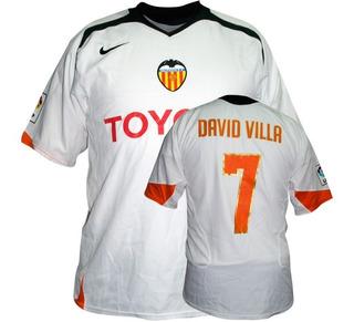Nuevo Jersey Nike Debut Valencia David Villa 7 05 06 Blanco