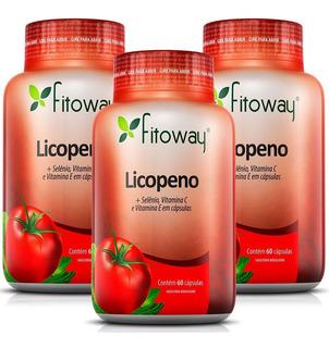 Licopeno De Tomate - Fitoway - 3x60 Cápsulas