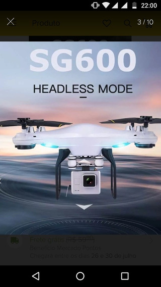 Drone Sg600 Câmer Hd Wifi 2.4ghz Real
