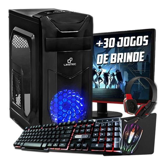 Pc Completo Gamer Com Tela De 19 Lcd! Frete Gratis!