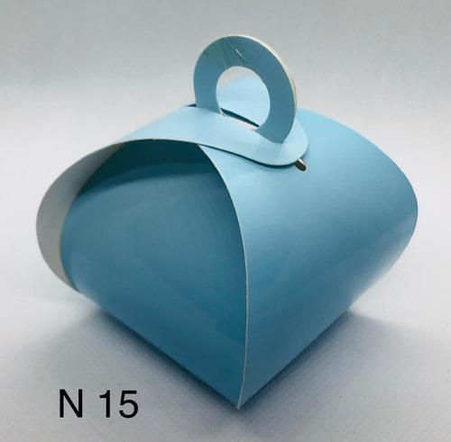Imagem 1 de 11 de 120 Caixinhas Para Bem Casado Lembrancinha Cor Azul Claro