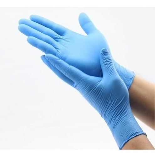 Imagen 1 de 8 de Guantes De Nitrilo Azul Resistentes 5x100 (s-m-l)