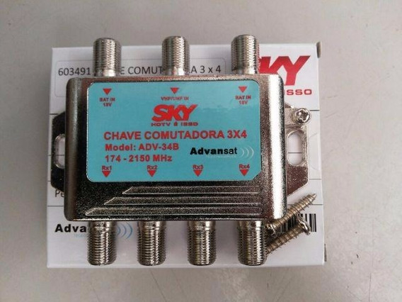 10 Chave Comutadora 3x4 Sky Sat 174 - 2150 Mhz