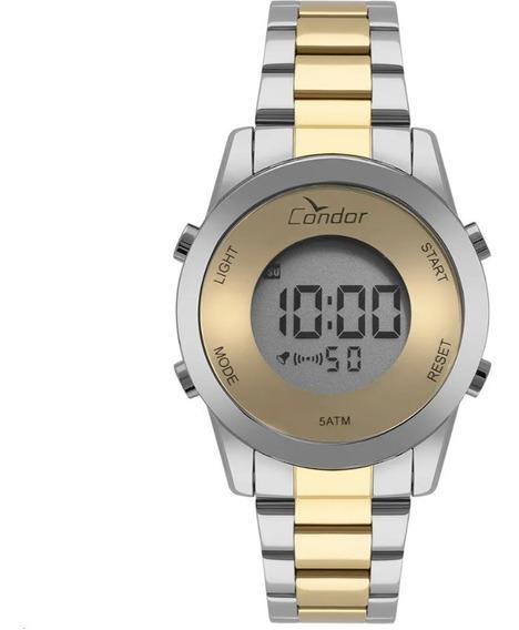 Relógio Condor Feminino Digital Misto Em Aço Cobj3279ac/5d