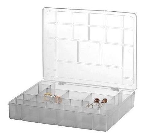 Caixa Estojo Organizador Multiuso 20 Divisórias Parafusos