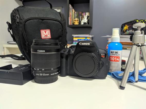 Câmera Canon Rebel T5i + Kit Lente 18-55mm + Cartão 32 Gb