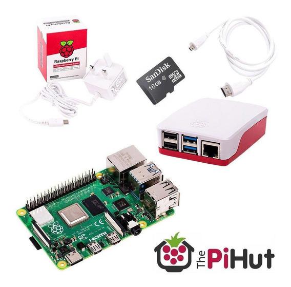 Raspberry Pi 4 - 4gb + Hdmi + Fuente + Sd 64gb + Gabinete