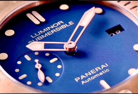 Relogio Top De Luxo Bronzo Submersible Blue *último*