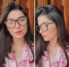 9eb9e3b3e Oculos Gatinho Lente Transparente Sem Grau - Óculos no Mercado Livre ...