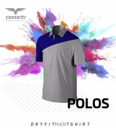 Playera Tipo Polo Cossetti Manga Corta Dry Fit Crossline Xl