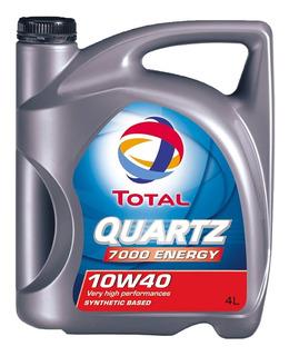 Aceite Total Quartz 7000 10w40 X 4 Litros Semi-sintético