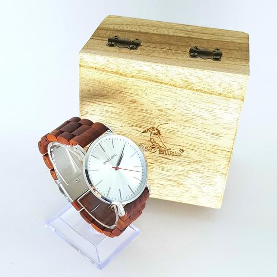 Relógio Bobo Bird Slim Madeira Com Caixa Lançamento 2019