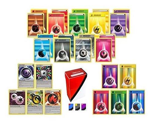 100 Cartas De Energia De Pokemon Incluyen 90 Cartas De Energ