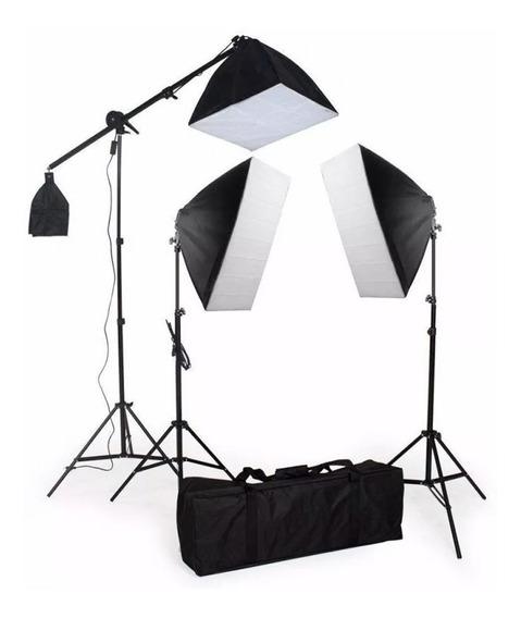 Kit De Iluminação Pk-sb03 -220v Com Lampadas Foto E Video Pronta Entrega-envio Imediato-12x Sem Juros- Frete Grátis