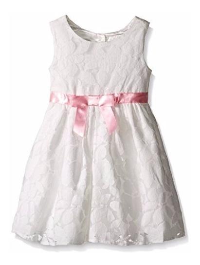 Vestido Infantil Menina Branco Ano Novo - 3 Anos
