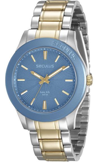 Relógio Feminino Seculus Long Life Bicolor 28744lpsvba2