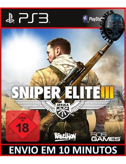 Sniper Elite 3 - Português - Psn Ps3 - Envio Imediato