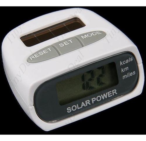 Podómetro Cuentapasos, Calorías Solar Pantalla Lcd