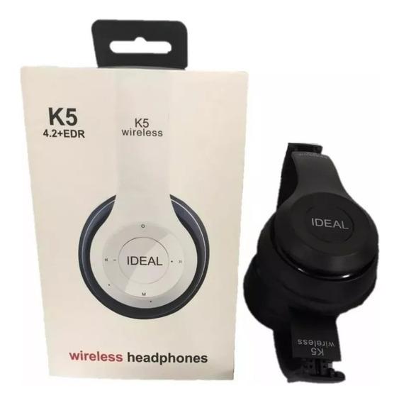 Fone De Ouvido Bluetooth Sem Fio Fm Celular K5 12x S Juros