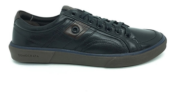 Sapatênis Democrata Denim Hit -preto/carvalho Rf.071135