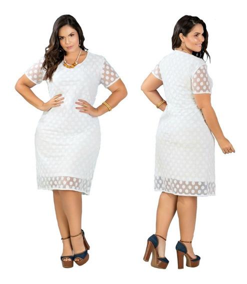 Vestido De Festa Para Casamento Civil Plus Size Renda Branco