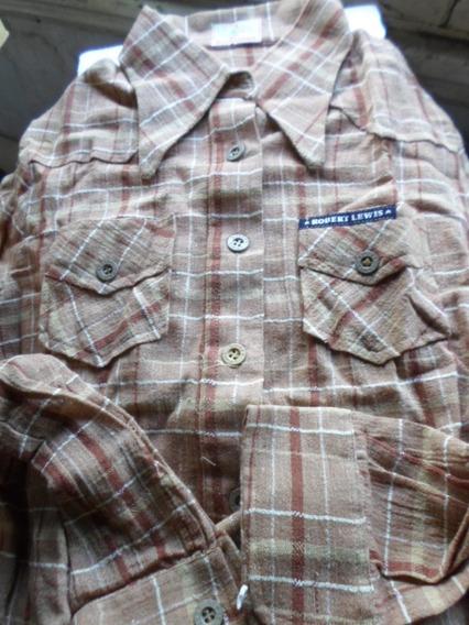 Camisa Retro Nueva Robert Lewis Puro Algoodon Años 70
